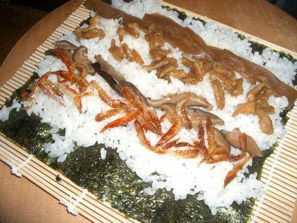 新潟と静岡のコラボ、胡桃寿司 その2_a0095931_1546874.jpg