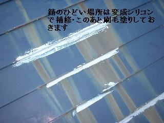 屋根塗装2日目_f0031037_1647527.jpg
