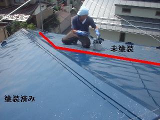 屋根塗装2日目_f0031037_1732945.jpg