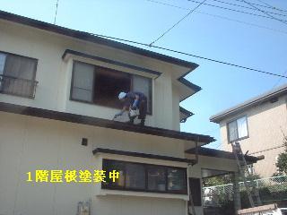 屋根塗装2日目_f0031037_1743936.jpg