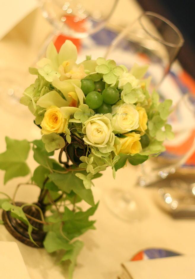 シェ松尾青山サロンさまの装花 グリーン_a0042928_0123523.jpg