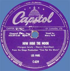 How High the Moon by Les Paul with Mary Ford_f0147840_3433697.jpg