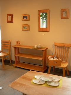 木の家具と陶器たち・茂木御夫婦による展示会_e0109554_12541348.jpg