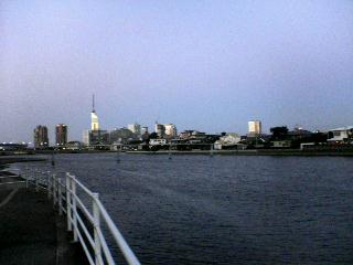 百道の夕焼け_d0082356_18182946.jpg