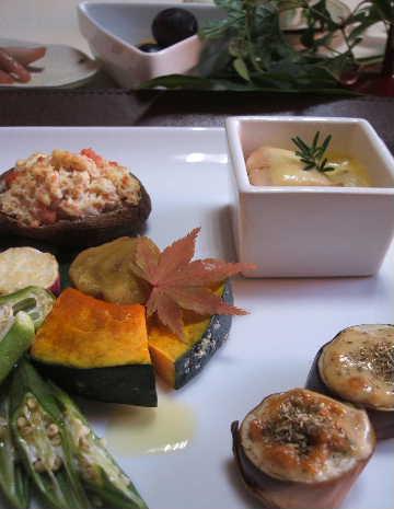 焼き野菜で秋のテーブル☆_e0086864_22314437.jpg