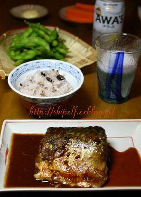 今秋初 鯖味噌煮_c0134734_16452564.jpg