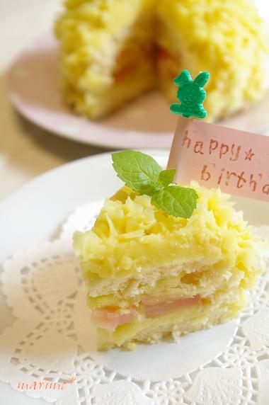 お子様に♪さつまいもと林檎のケーキ*_d0098954_18421895.jpg