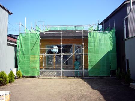外壁の塗装、自分達で・・・_f0150893_20145455.jpg