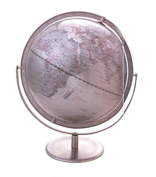 【商品名】シルバーグローブ12インチ地球儀(インテリア雑貨/地球儀)【ブ... デザイナーズ家具
