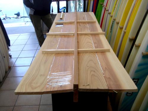 P023 木製サーフボード_f0150051_13591486.jpg