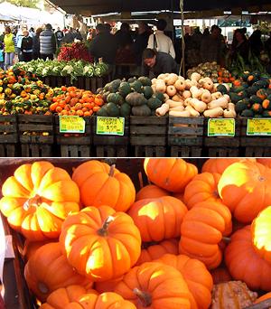 ハロウィンのカボチャでグリーン・マーケットがオレンジ色に_b0007805_12333597.jpg
