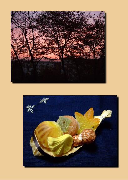 夕暮れと秋の干菓子