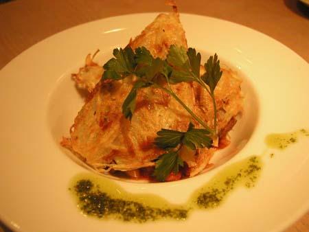 ペコリの 白身魚のガレットとラタトューユ_f0053279_8485079.jpg