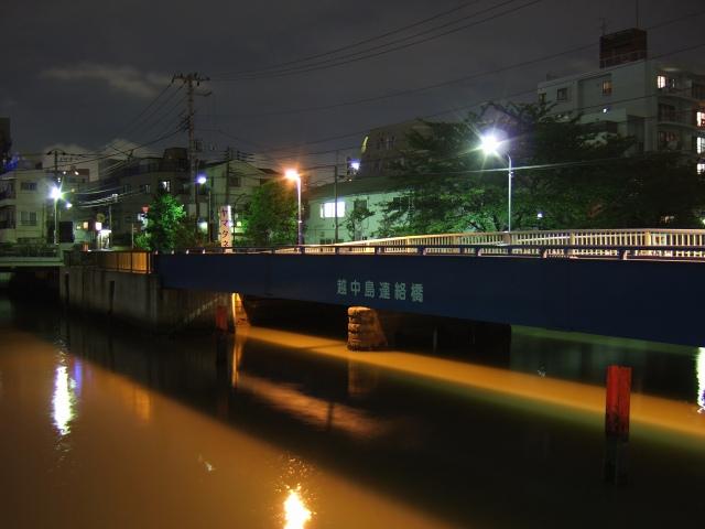 門前仲町  大横川、水面にメコンを思わるる_b0061717_11553617.jpg