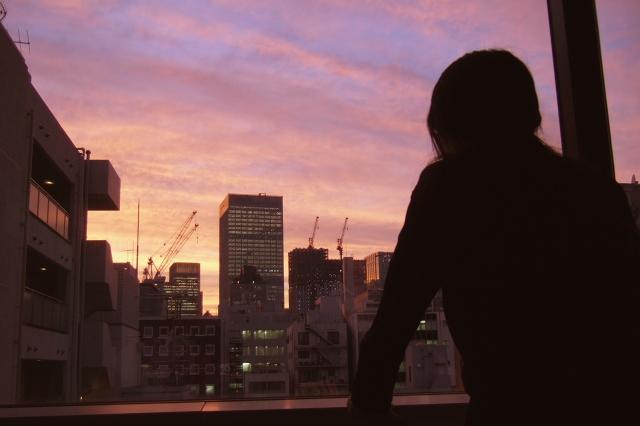 日本橋  会議室から夕焼けを_b0061717_1254286.jpg
