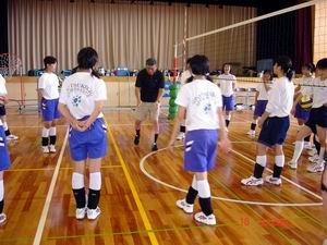 中学生バレーボール教室①_d0010630_16451733.jpg