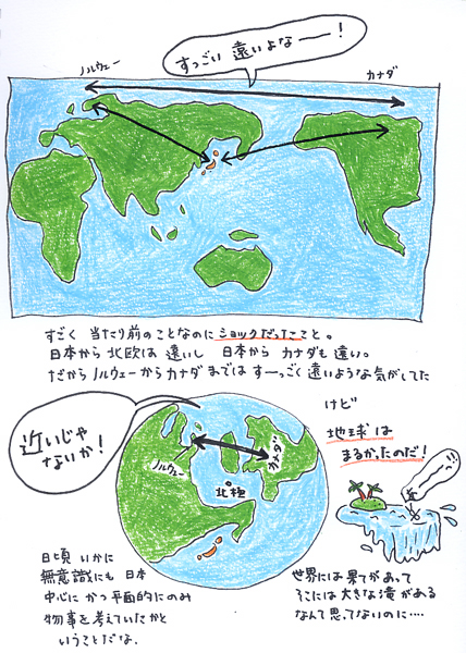 10/28 地球儀を見て_f0072976_19333437.jpg