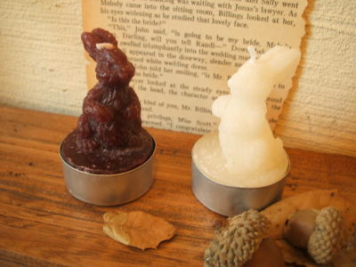 tree candle & rabbit candle_c0118809_18471416.jpg