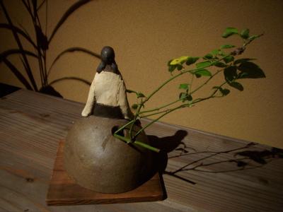 陶人形と花のある空間 『欒(まどい)』さんでの作品展_f0018417_238535.jpg
