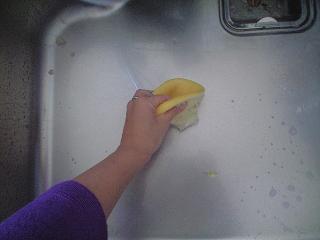 食べたグレープフルーツで  シンクのお掃除~♪_e0123286_20221698.jpg