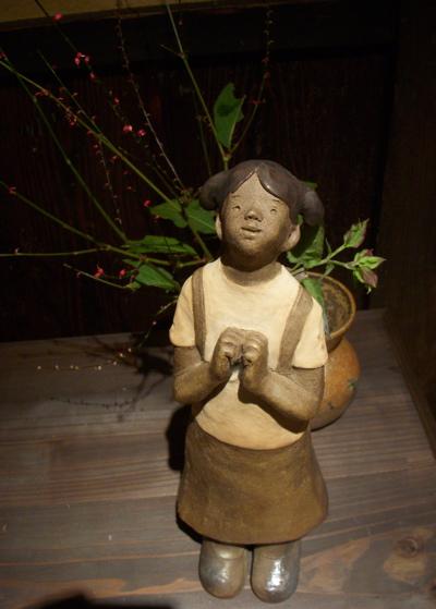 陶人形と花のある空間 『欒(まどい)』さんでの作品展_f0018417_158243.jpg