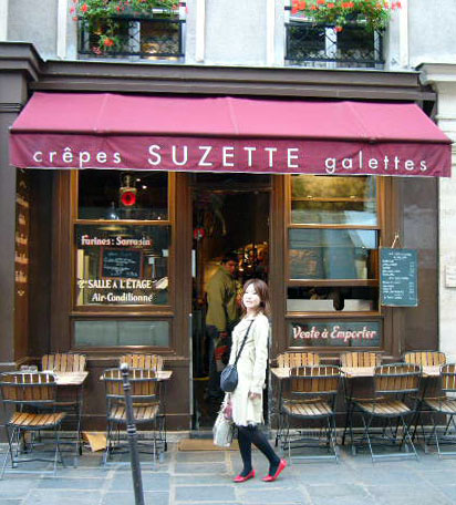 『Crêperie Suzette』 in PARIS_c0131054_14301394.jpg