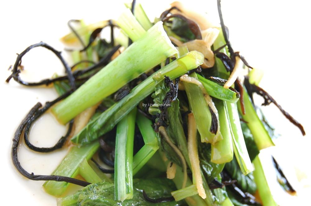 小松菜とひじきのあったかサラダ_e0110659_956567.jpg
