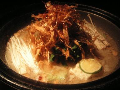 寒い夜にはあったかモツ鍋。金魚_d0111534_1555126.jpg
