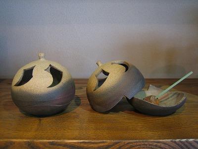 羽石修二さんの香炉が仲間入り_b0100229_1473399.jpg