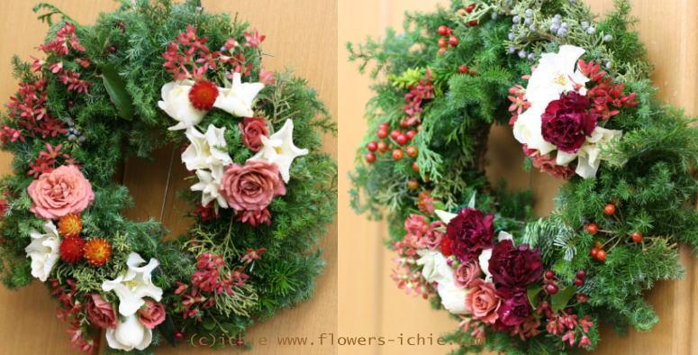 クリスマスリースとクリスマスツリー_a0042928_2211377.jpg