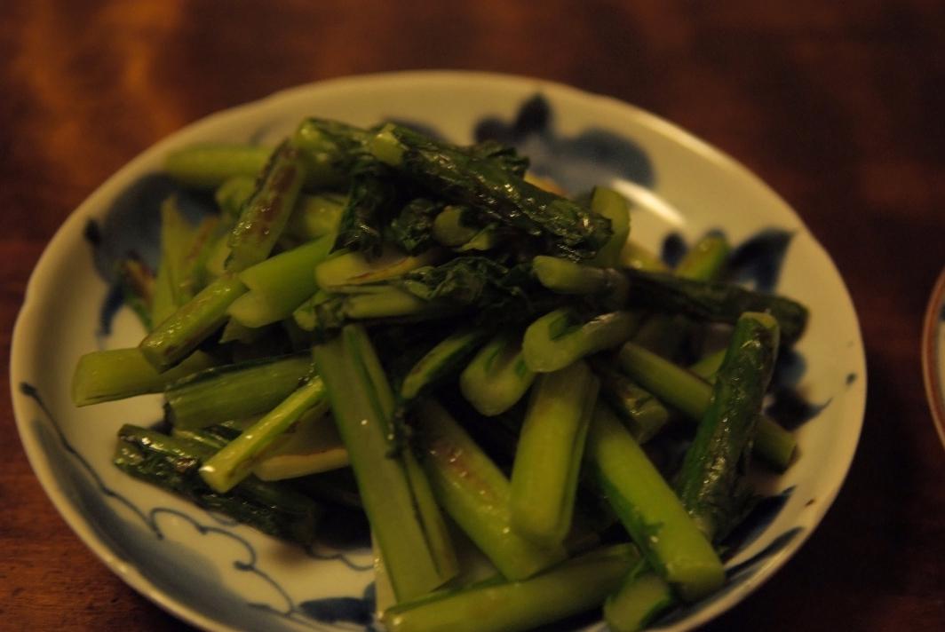 野沢菜のバター炒め_d0056382_9195722.jpg