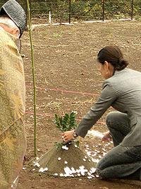 芋掘り地鎮祭_f0088873_1816775.jpg
