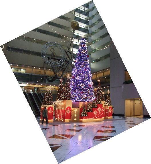 11月18日NSビルのクリスマスツリー