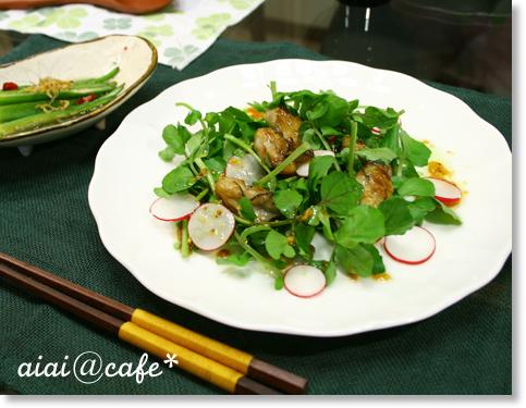 牡蠣のサラダ仕立て・和風マスタードドレッシング_a0056451_1529286.jpg