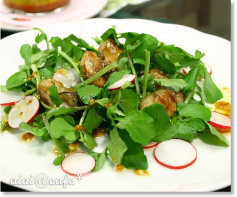牡蠣のサラダ仕立て・和風マスタードドレッシング_a0056451_15293234.jpg
