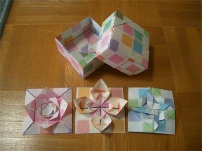 ハート 折り紙:折り紙 箱 ユニット-divulgando.net