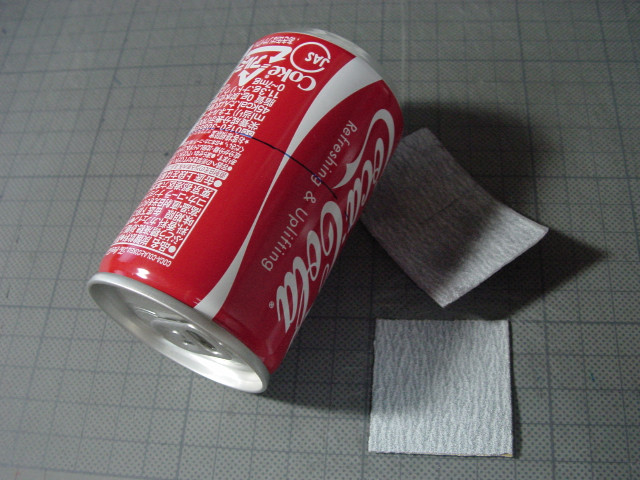 アルコールストーブを磨こう // 缶の塗膜研磨_f0113727_513643.jpg