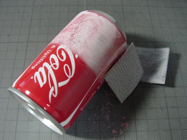 アルコールストーブを磨こう // 缶の塗膜研磨_f0113727_514978.jpg