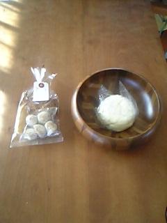 まんじゅうカフェ3周年記念のおまんじゅうと猫の形をしたクッキー_c0131063_1295747.jpg