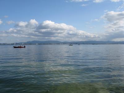 今日はヒサビサに琵琶湖に出ました。_a0097491_2112769.jpg