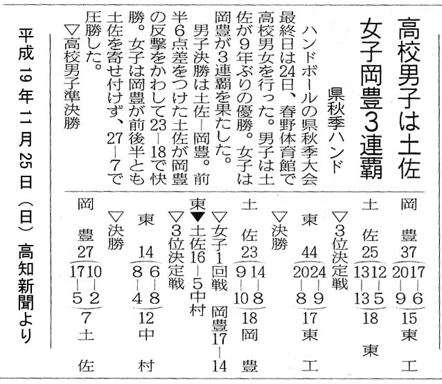 H19県秋季大会20071123,24~土佐9年ぶり優勝!_b0025069_10565119.jpg