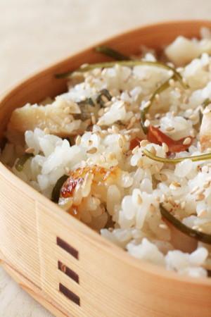 昆布入りえぼ鯛の干物と梅干の炊き込みご飯弁当_d0004651_7484273.jpg