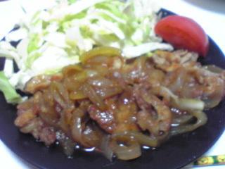 豚肉のしょうが焼き_c0025217_11481346.jpg