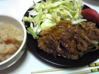 豚肉のしょうが焼き_c0025217_1148587.jpg