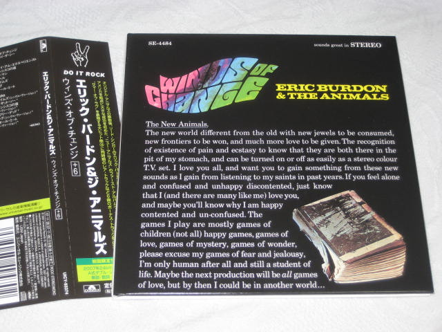 ERIC BURDON & THE ANIMALS / WINDS OF CHANGE (紙ジャケ)_b0042308_1164879.jpg
