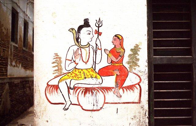 修行僧と宗教画 インド・ヴァラナシ11_b0112443_20263290.jpg