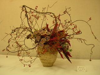 古布のリメイクと水戸芸術祭・いけばな展_e0109554_1845474.jpg