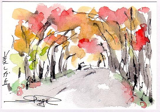 桜並木の紅葉・・・。_e0054438_1905369.jpg
