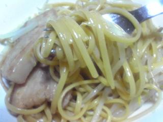 豚バラともやしの醤油スパゲティ_c0025217_0515181.jpg