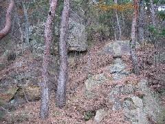 信夫山:養山登拝路口から_a0087378_7431640.jpg